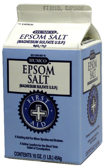 Epsom Salt Crystal USP 1Lb By Humco