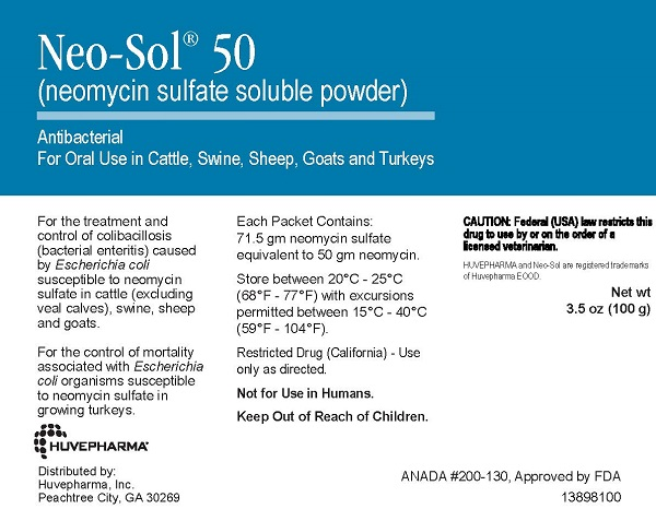 Neo-Sol 50 -- 3.5 oz (100Gm) Sold By The Packet -- Pail =75 Packets 100gm By Huv