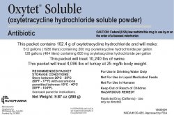 Oxytet Soluble 280gm Sold By The Packet -- Case = 50 Packets 280Gr By Huveph