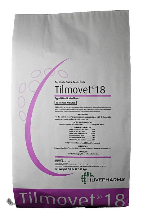 Tilmovet 18 50Lb By Huvepharma