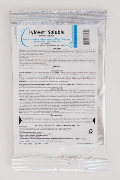 Tylovet Soluble 100gm Pack By Huvepharma