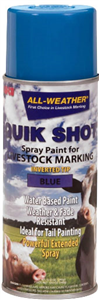 Livestock Markers Quik Shot Spray Paint (All-Weather) Inverted Tip - Blue B12 By