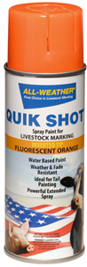 Paint All-Weather Quik Shot Spray (Livestock Markers) Inverted Tip - Fluorescent