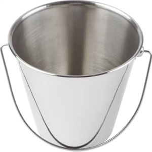 Bucket Stainless Steel 9 Quart Each By Leather Brothers