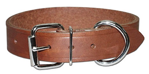 Collar Leather Bully 3/4 X 18 P6 By Leather Brothers