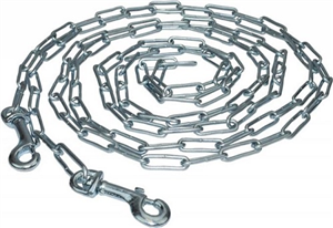 Heavy Duty 3.8mm Welded Link Tie-Out Chains For Large Dogs 15Ft Each By Leather