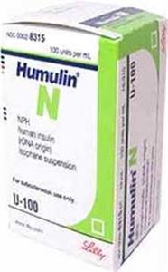 Insulin Inj [Humulin N Nph] 100U/ml 3cc By Lilly