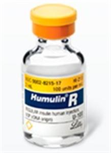Insulin Inj [Humulin R] 100U/ml 10cc By Lilly