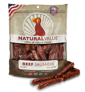 Beef Sausage Dog Treat 14 oz By Loving Pets