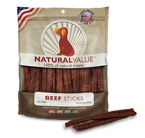 Beef Sticks Dog Treat 14 oz By Loving Pets