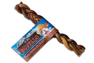 Buff Braided Bully Stick 6 P20 By Loving Pets