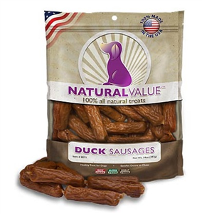 Duck Sausages Dog Treat 14 oz By Loving Pets