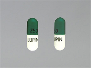 Cephalexin Caps 250mg B500 By Lupin Pharmaceuticals