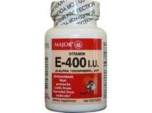Vitamin E Caps 400I.U. B100 By Major Ultra