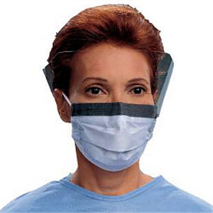 Surgical Masks Fluidshield With Visor And Ear Loops. Latex Free Nose B25 By Mcke