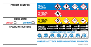 Label Ghs For Secondary Container 2 X4 P25 By Medical Safety Systems