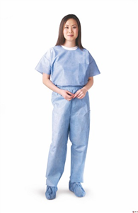 Disposable Scrub Pants - Elastic Waist XLarge Blue C30 By Medline Industries