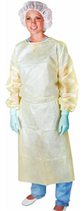 Isolation Gowns With Poly Coating Yellow Regular C50 By Medline Industries