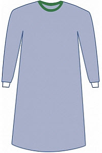 Surgical Gown Eclipse Non-Reinforced Sterile Large 43 Blue Each By Medline Indu