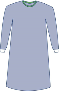 Surgical Gown Eclipse Non-Reinforced Sterile Small 41 Blue Each By Medline Industries Item No.:Vet-OTC-MW 040218<Br><Br>Mfr: Medline Industries<Br>SKU: 040218<Br>Unit: Each<Br>Mfr Code: Dynjp2005<Br>C