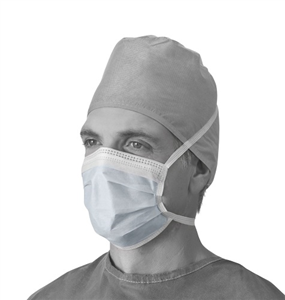 Surgical Mask Blue Tie On Anti-Fog C300 By Medline Industries Item No.:OTC-MW 061160 NON27378A <Br><Br>Mfr: Medline Industries<Br>SKU: 061160<Br>Unit: C300<Br>Mfr Code: Non27378A<Br>Case Lot: 0<Br>Siz