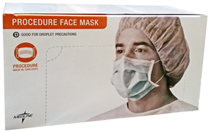 Surgical Mask With Ear Loop Latex Free B50 By Medline Industries Item No.:Vet-OTC-MW 015147<Br><Br>Mfr: Medline Industries<Br>SKU: 015147<Br>Unit: B50<Br>Mfr Code: Non27375<Br>Case Lot: 0<Br>Size: B50
