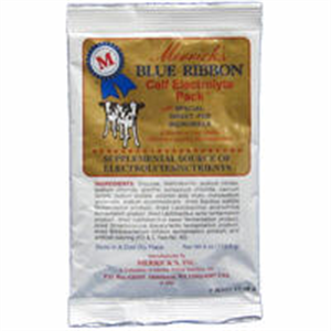 Blue Ribbon Calf Electrolytes Regular Powder 12 X 4 oz Packets B12 By Merrick'S