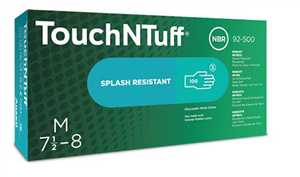 Gloves Touch & Tuff Nitrile Latex Free Powder (Medium) - Industrial Use Only Not