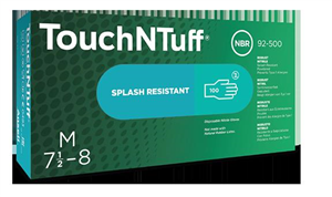Gloves Touch & Tuff Nitrile Latex Free Powder (Large) - Industrial Use Only Not