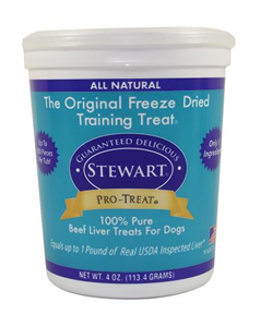 Pro-Treat Freeze Dried Beef Liver Treats 4 oz By Miracle Corp