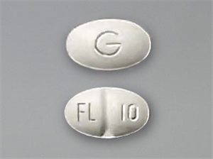Fluoxetine Tabs 10mg B100 By Mylan Pharmaceuticals