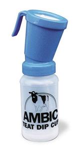 Ambic Euro-Style Non-Return Teat Dipper - Blue 15 ml Dip Cup Each By Nasco