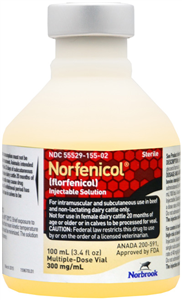 Norfenicol Inj 100ml 100cc By Norbrook