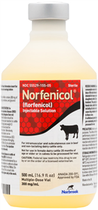 Norfenicol Inj 500ml 500cc By Norbrook
