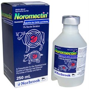 Noromectin 1% Inj (Ivermectin) 250cc By Norbrook