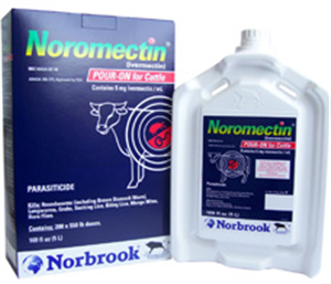 Noromectin Pour On 2X5Liter Min 40 Units For Custom Carrier Delivery B2 By