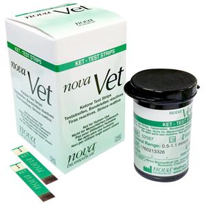 Novavet Ketone Strips B25 By Nova Biomedical