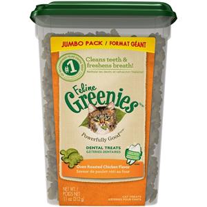 Feline Greenies Dental Treats - Oven Roasted Chicken Flavor 11 oz By Nutro Compa