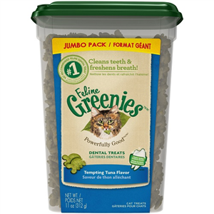 Feline Greenies Dental Treats - Tempting Tuna Flavor 11 oz By Nutro Company