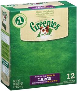 Greenies Dental Chews Canine - New Formula (12 Treats Per Bag) Individually Wra