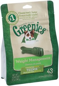Greenies Dental Chews Canine Lite Treat Pak - New Formula 12 oz (43 Treats Per B