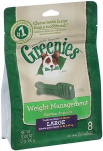 Greenies Dental Chews Canine Lite Treat Pak - New Formula 12 oz (8 Treats Per Ba