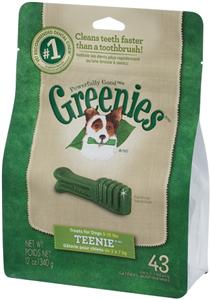 Greenies Dental Chews Canine Treat Pak - New Formula 12 oz (43 Treats Per Bag) -