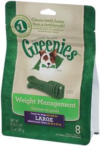 Greenies Dental Chews Canine Treat Pak - New Formula 12 oz (8 Treats Per Bag) -