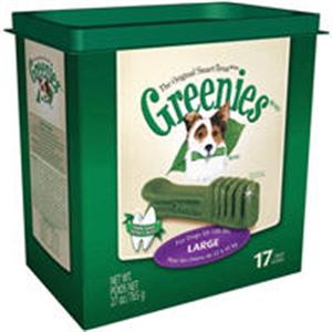 Greenies Dental Chews Canine Treat Tub Pak - New Formula 27 oz (17 Treats Per Ba
