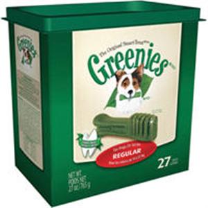 Greenies Dental Chews Canine Treat Tub Pak - New Formula 27 oz (27 Treats Per Ba