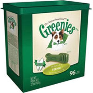 Greenies Dental Chews Canine Treat Tub Pak - New Formula 27 oz (96 Treats Per Ba