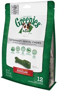 Greenies Dental Chews Canine Vet Formula - New Formula 12 oz (12 Treats Per Bag)