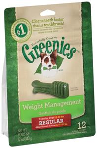 Greenies Dental Chews Lite Treat Pak - New Formula 12 oz (12 Treats Per Bag) - R