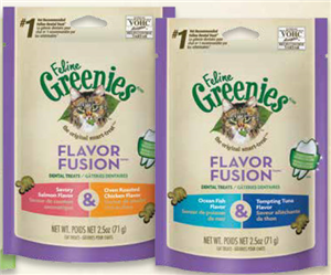 Greenies Feline 10 X 2.5 oz - Chicken & Salmon Cs10 By Nutro Company
